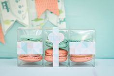 Peach + mint twin baby shower
