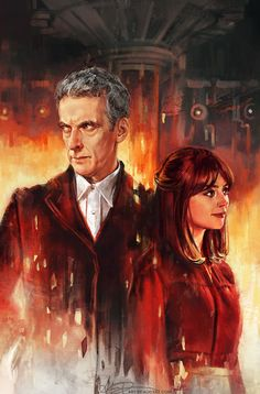 I hope you guys all enjoyed the new episode! Here's the full painting I did to celebrate the season premiere, officially commissioned by the Doctor Who: Earth Conquest documentary! I had the amazing opportunity to present this artwork to Peter...