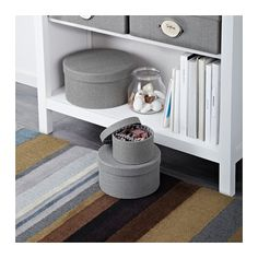 KVARNVIK Box, set of 3 - gray, - - IKEA