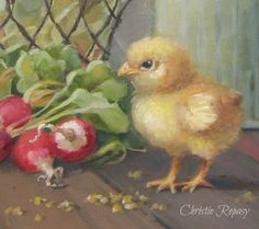 "I've been having so much fun painting today, here is ""my little chick-a-dee"" ;) C.Repasy"