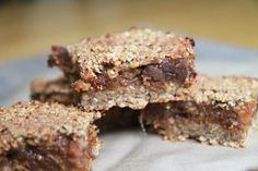 Vegan fig-bars. SO DELICIOUS!!! Made them tonight and had a hard time stopping at just one!!!