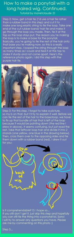 Ponytail wig tutorial part 2 by monetclaude.deviantart.com on @deviantART
