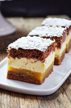 Ciasto Kilimandżaro Polish Desserts, Polish Recipes, Cookie Desserts, Just Desserts, Delicious Desserts, Yummy Food, Polish Food, Baking Recipes, Cake Recipes