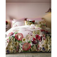 Ted Baker Encyclopaedia Floral cotton double duvet cover found on Polyvore featuring polyvore, home, bed