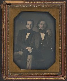 Unknown (American). Two Young Men, ca. 1850. The Metropolitan Museum of Art, New York.  Gift of Herbert Mitchell, 2001 (2001.714). #love