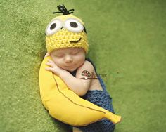 Despicable Me inspired Minion Hat Newborn 2T by MySweetPeaProps, $22.50