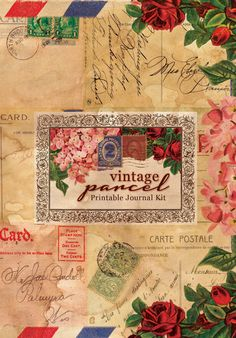 Printable Journal Kit  Vintage Parcel  24 page by TsunamiRose