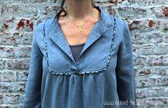 Tova dress - yoke detail (wearing) | Flickr - Photo Sharing!