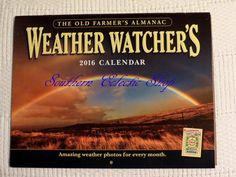 Farmer's Almanac 2016 Weather Watcher's Wall Calendar