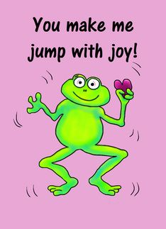 Silly frogs!  We love them!