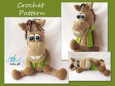 Amigurumi Pattern Amigurumi Horse  Horse Crochet door LovelyBabyGift