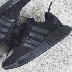 Triple Black NMD Available Now www.shopsunsetbay.com ! Free WorldWide Shipping