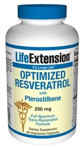 Life Extension Optimized Resveratrol with Synergistic Grape-Berry Actives 250mg