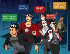 This was actually my family and i when going to see justice league XD || Art From the Inkwell