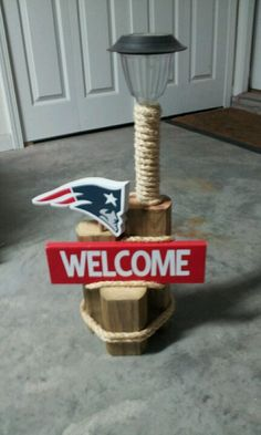 New England Patriots landscape light