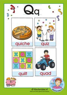 Preschool and Kindergarten Alphabet & Letters Worksheets Q Words For Kids, Letters For Kids, Letter N Words, Sight Words, Alphabet Letters, Letter P Activities, Pre K Activities, Kids Education, Early Childhood