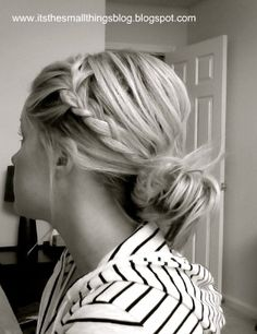The Small Things Blog: A quick messy braided hairstyle