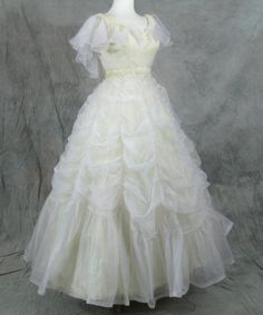 Pale Yellow Ball Gown
