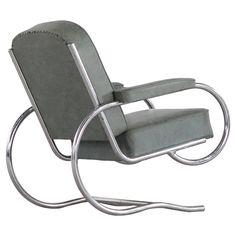 Batistin Spade Armchair Tubular Steel Easy Chair, 1930 France
