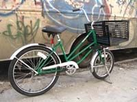Low-gravity bike, step-through frame.  Industrial Bicycles, American Made Bicycles from Worksman Cycles