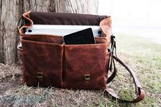 ONA Leather Brixton: the sexiest laptop  camera messenger bag you've ever seen via Engadget