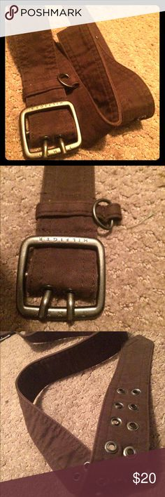 HUGE PRICEDROP Genuine Timmy Hilfiger Brown Belt This classy yet casual belt is the most earthy hue of brown. It also has contrasting buckle holes accented in a lighter shade of brown. It's barely been used, but does not contain the original tags. *bargaining welcome Tommy Hilfiger Accessories Belts