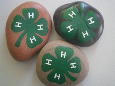 4-H Painted Rocks  handpainted  acrylic on rock by PlaceForYou