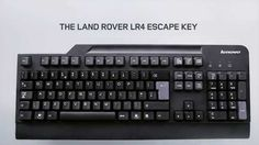 Land Rover Esc key added to keyboard. Promotes and instill the classic adventurous spirit of Land Rover in the next generation of prospective owners. And encourage them to discover life beyond their office cubicles.