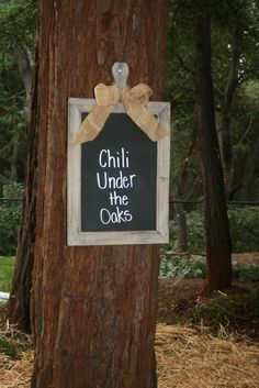 bloom designs: Fall Party Idea- Chili Under the Oaks Outdoor Fall Parties, Barn Parties, Backyard Parties, Team Dinner, Dinner Club, Chili Party, Fall Fest, Host A Party, Best Part Of Me