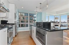 SOLD  A beautiful and spacious 2-bed 2-bath new to market!  You will never tire from the unobstructed views of lower Manhattan along with One World Trade Center and both Brooklyn and Manhattan Bridges. A must see.  The kitchen is equipped with stainless steel appliances, white cherry wood cabinets, black granite counter tops and a breakfast bar. The large master bedroom easily accommodates a…