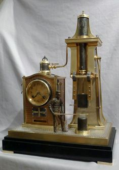 French Steam Hammer Clock