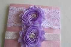 Lavender Garter Bridal Garter White Lace Garter by LadyBugSewn