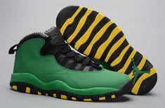 premium selection 321e9 8aee4 Legit Cheap Air Jordan 10 Oregon Ducks PE Green Yellow Doernbecher Discount  Sale Jordan 10,