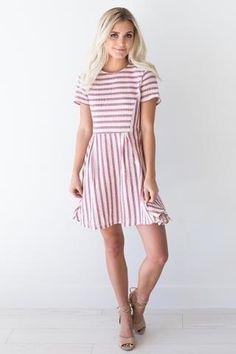Jane Pink Striped Dress