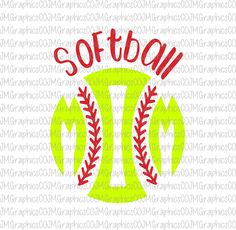 Softball Mom svg, eps, dxf, png, cricut, cameo, scan N cut, cut file, softball svg, softball monogram svg, mom monogram svg, baseball svg by JMGraphicsCO on Etsy