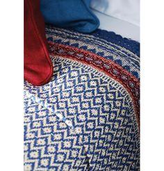 Detail of Oka Kashmir Cotton Quilt - Blue