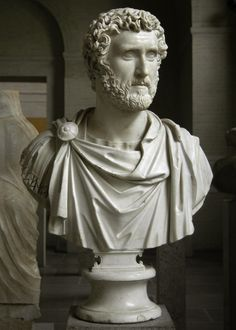 Emperor Antoninus Pius, Roman bust (marble), 2nd century AD, (Glyptothek, Munich).