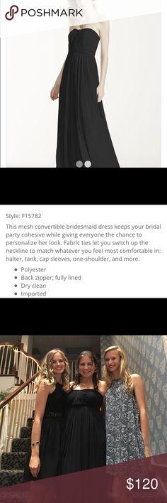 David's Bridal Versa Dress - Black Mesh Mesh, Versa (can be worn 17 different ways) David's Bridal Dresses Wedding