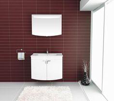 2 claret red bathroom decoration ideas