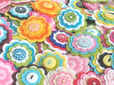 Handmade felt flower embellishment appliques add a special touch to your craft projects from hair accessories to decorating photo frames. This