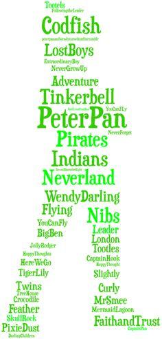 Words of Peter Pan Disney Love, Disney Magic, Disney Art, Disney Stuff, Disney Pins, Peter Pan Jr, Peter Pan Party, Peter Pan And Tinkerbell, Peter Pan Disney
