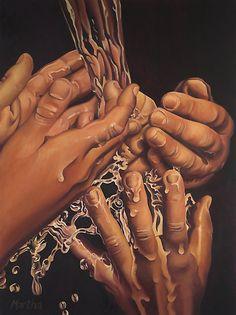 Reach by Martha Mitchell  Oil on canvas, 80 × 100 cm