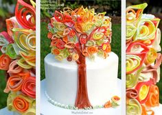 Quilling with Fondant Video~An Autumn Cake