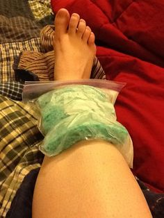 Shin splint cure: Put wet sponges in a zipper bag and rubberband them around a water bottle in the freezer. Theyll freeze in the perfect contour for your shins.
