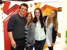 Jannis Niewöhner, Josefine Preuss, Maria Ehrich and Laura Berlin!! Laura Berlin, Red Sapphire, Movies Showing, Ruby Red, Emerald Green, Fangirl, Cinema, Actors, Film