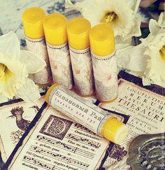"""Купить Бальзам для губ смягчающий """"Банановый рай"""" - желтый, бальзам для губ, Косметика ручной работы"""