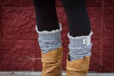 Pointelle Gray - leg warmers with knit lace trim & buttons, legwarmers Lace Knitting, Knit Lace, Cyber Monday Deals, Sunglasses Outlet, Best Wear, Boot Socks, Stretch Lace, Leg Warmers, Free Photos