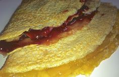 Crepes de avena con mermelada