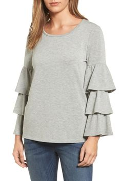 Tiered Bell Sleeve Knit Top (Regular & Petite)