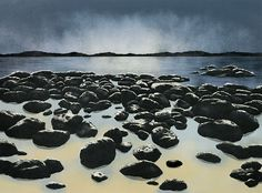 """Low Tide by Elisabeth Sommerville Stone lithograph ~ 17"""" x 23"""""""